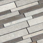 MMV01 mosaïque multiforme gris 27 x 30 cm