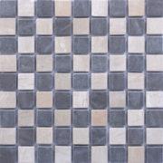 MM3012 mosaïque damier-thala beige gris foussana